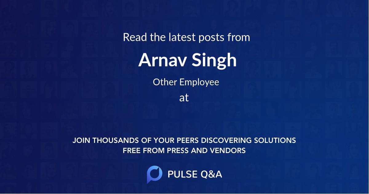 Arnav Singh