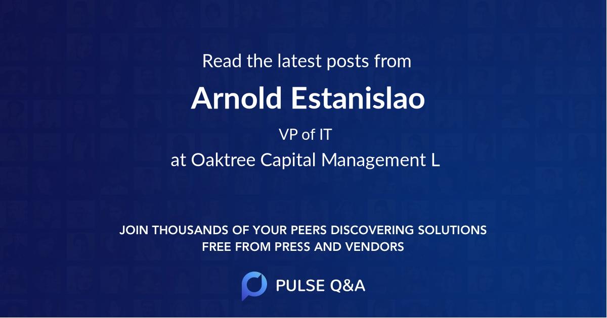 Arnold Estanislao