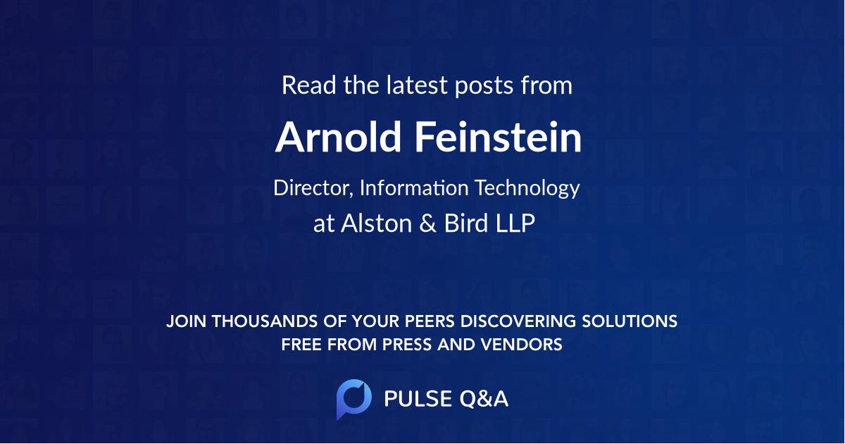 Arnold Feinstein