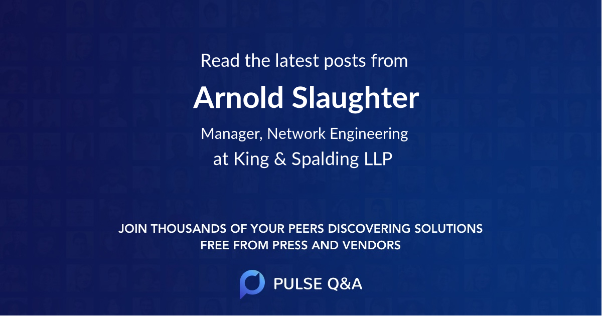 Arnold Slaughter