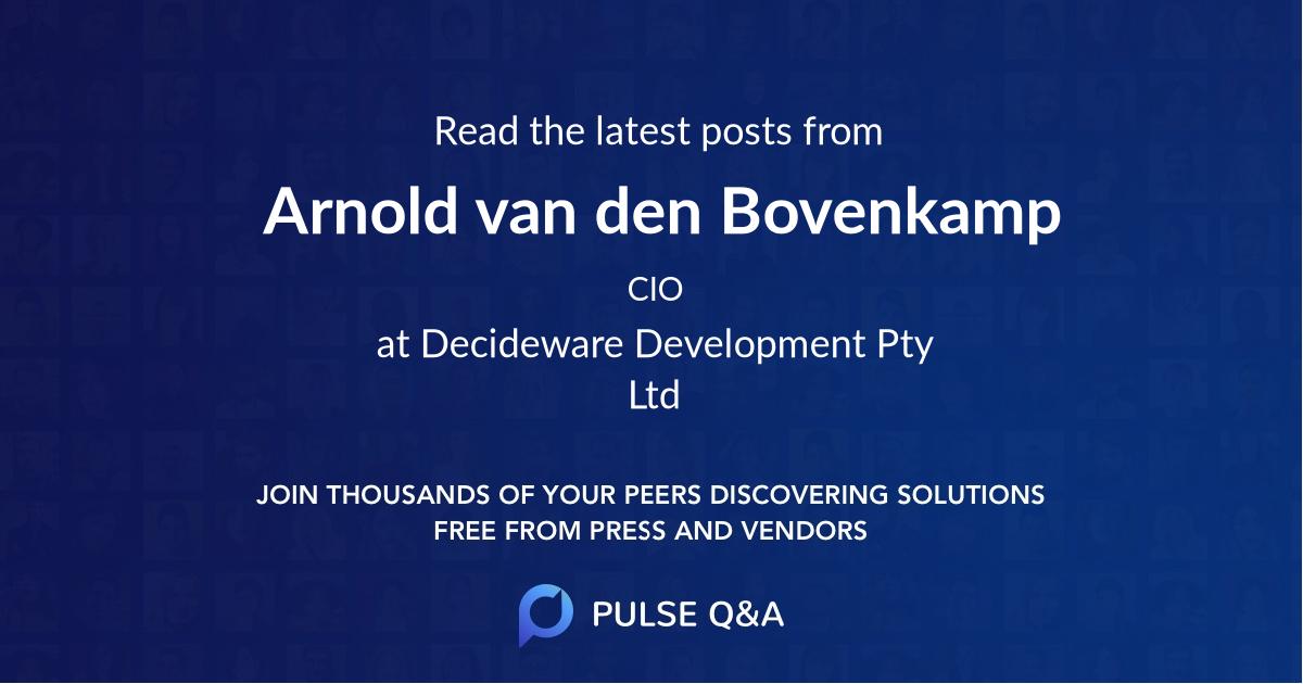 Arnold van den Bovenkamp