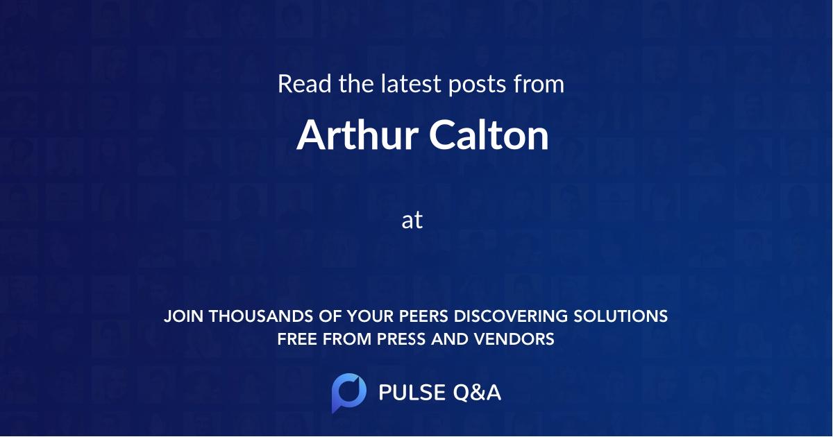 Arthur Calton