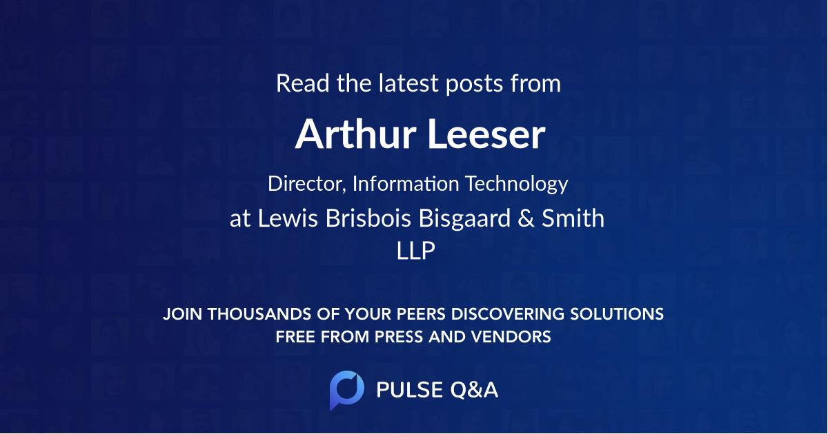 Arthur Leeser