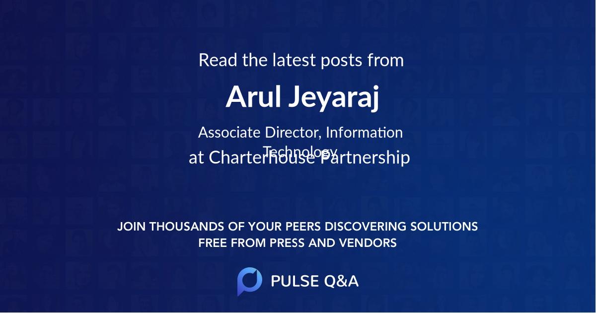 Arul Jeyaraj