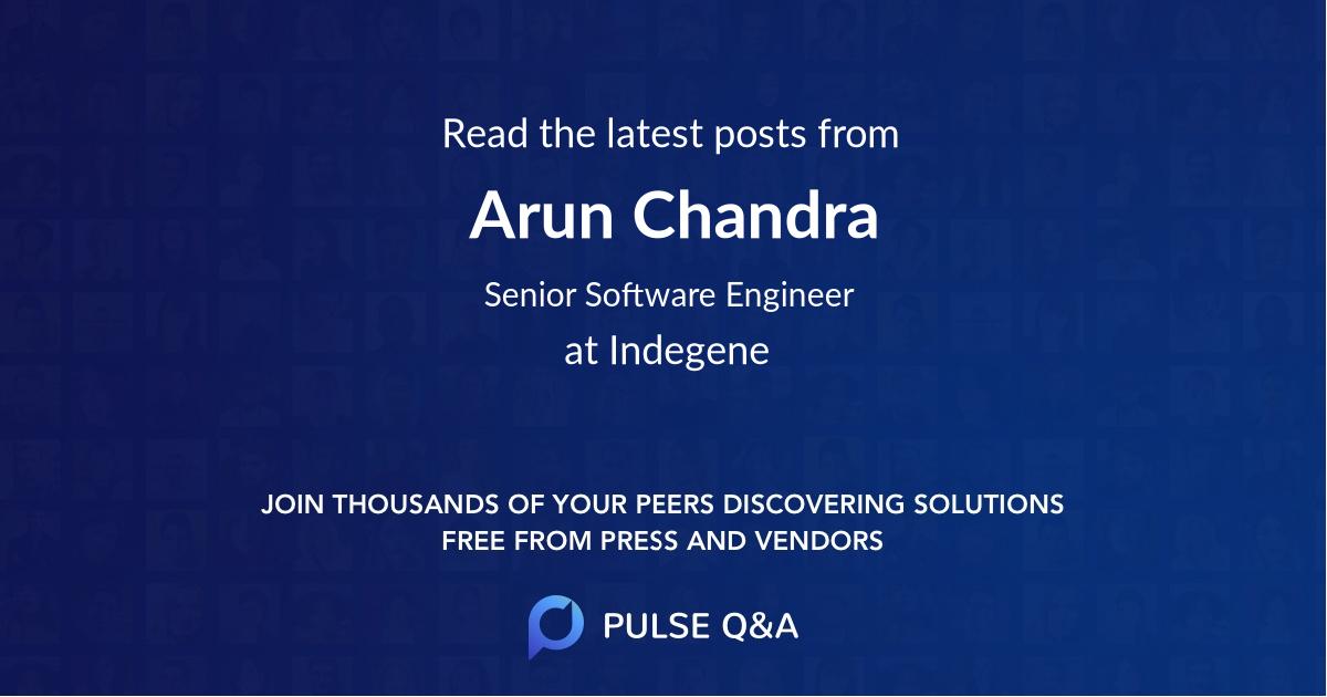 Arun Chandra
