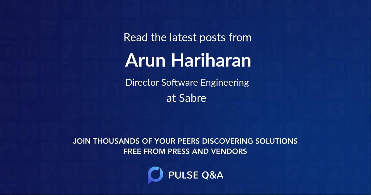 Arun Hariharan