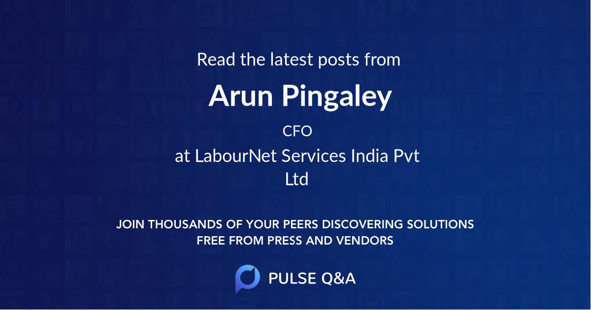 Arun Pingaley