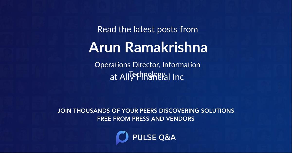 Arun Ramakrishna