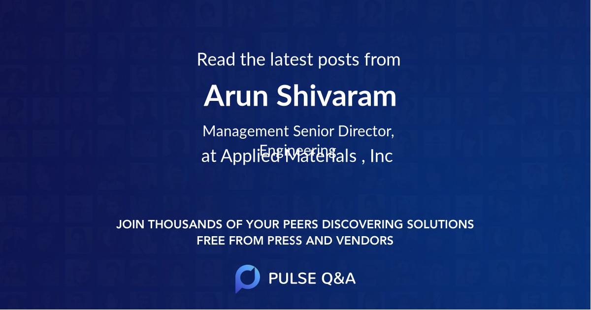 Arun Shivaram