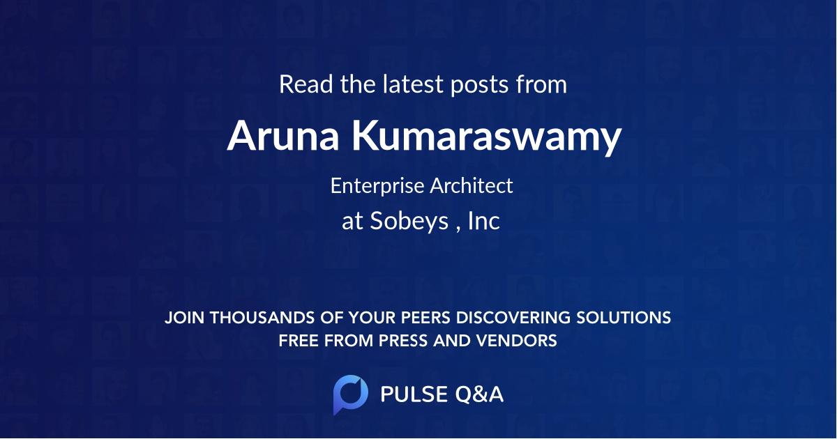 Aruna Kumaraswamy