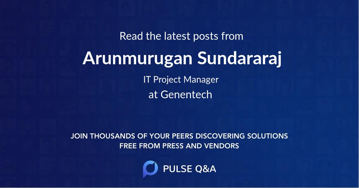 Arunmurugan Sundararaj