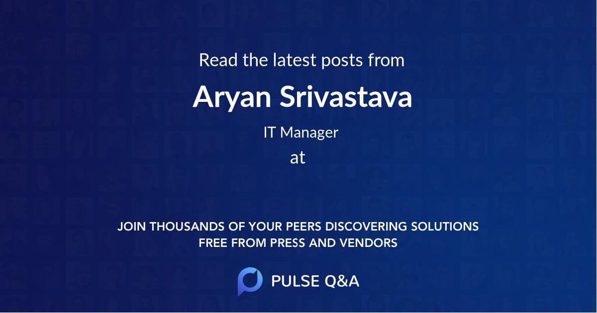 Aryan Srivastava
