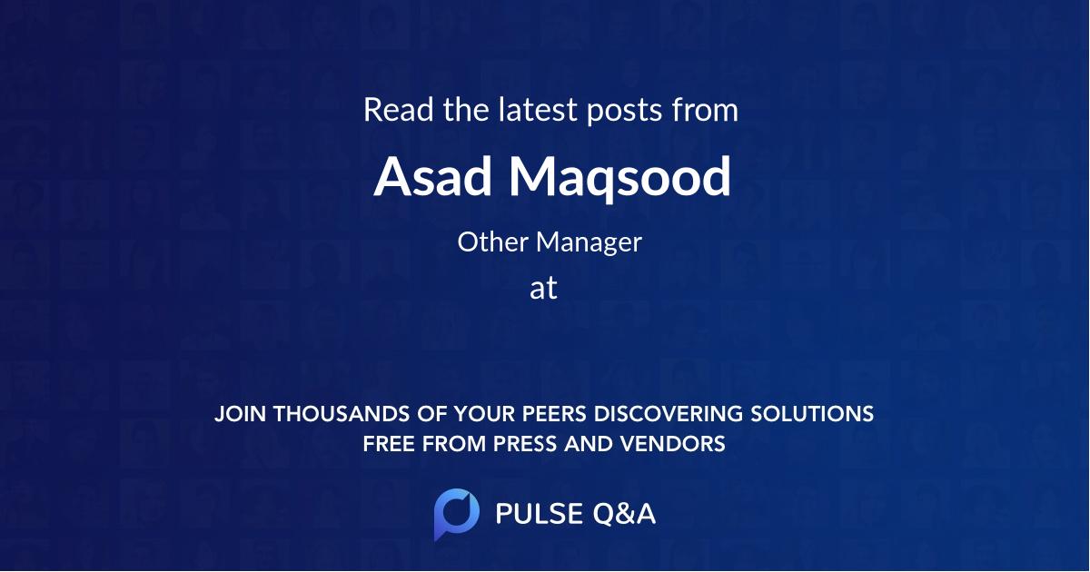 Asad Maqsood