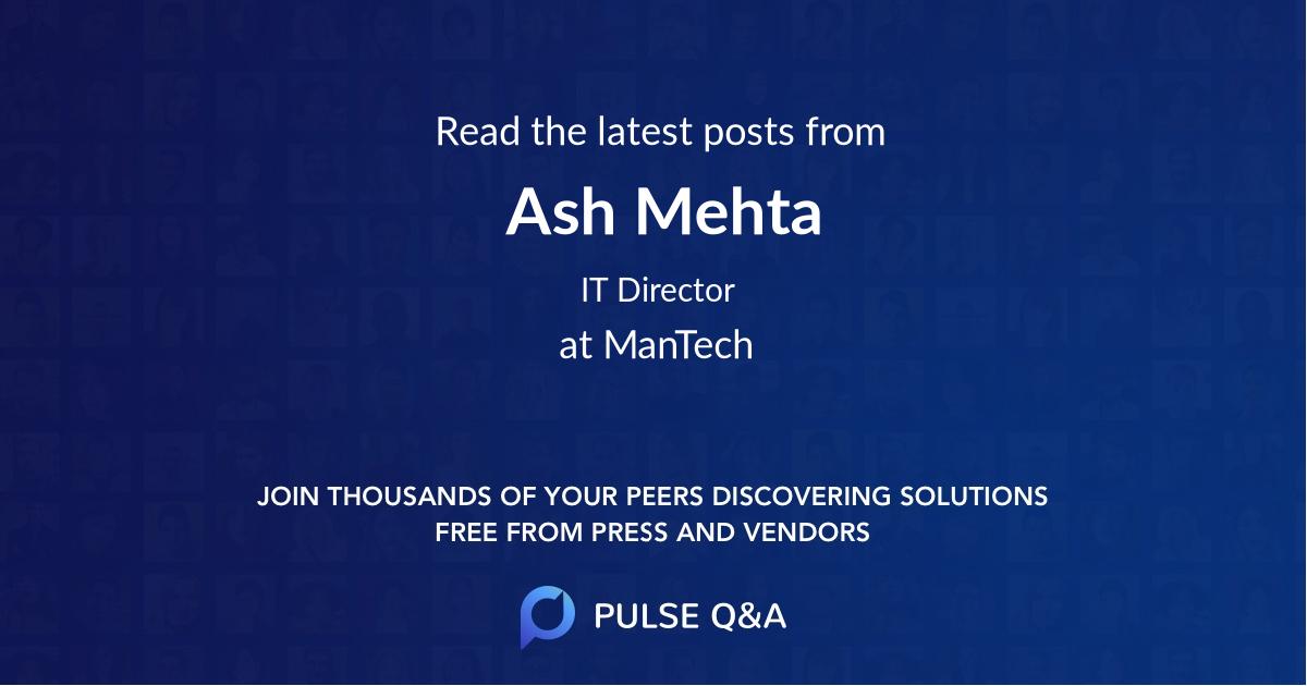 Ash Mehta