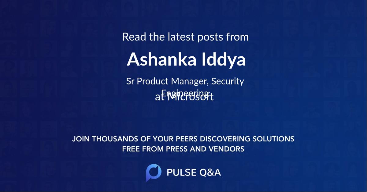 Ashanka Iddya