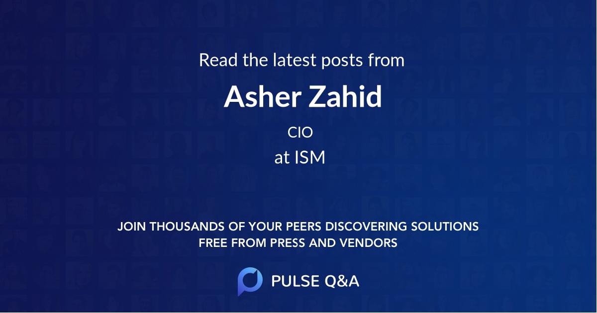 Asher Zahid