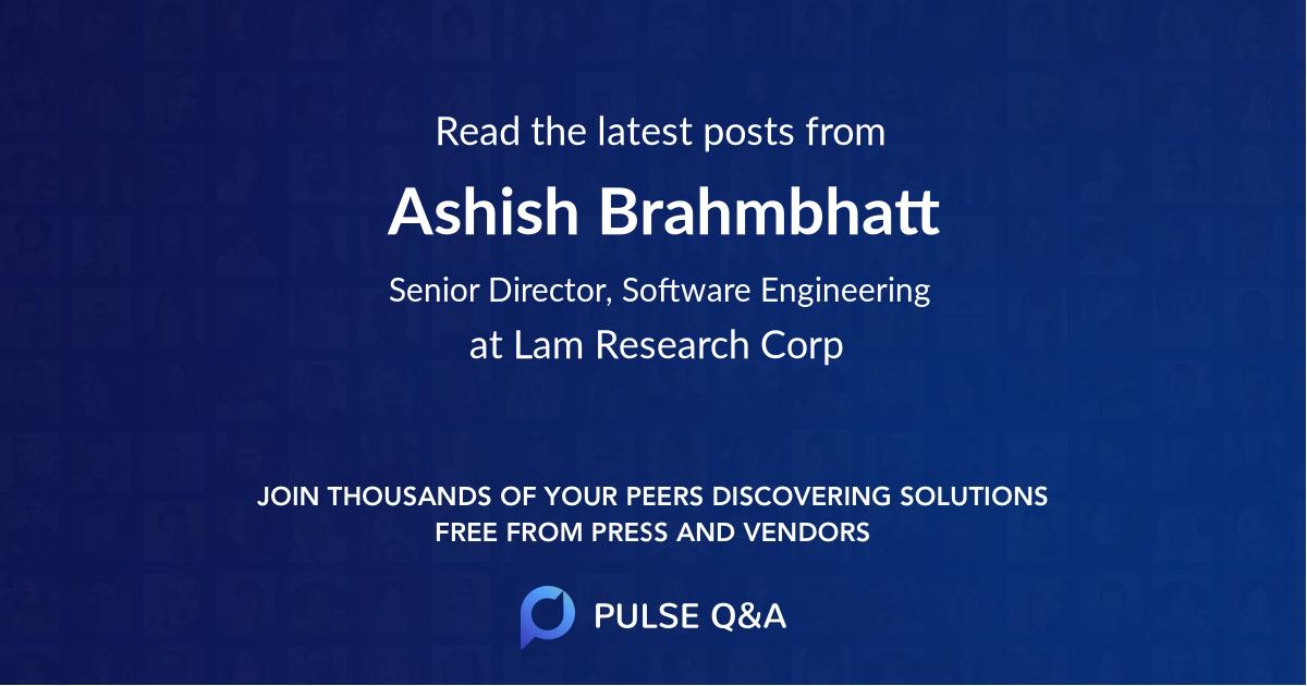 Ashish Brahmbhatt