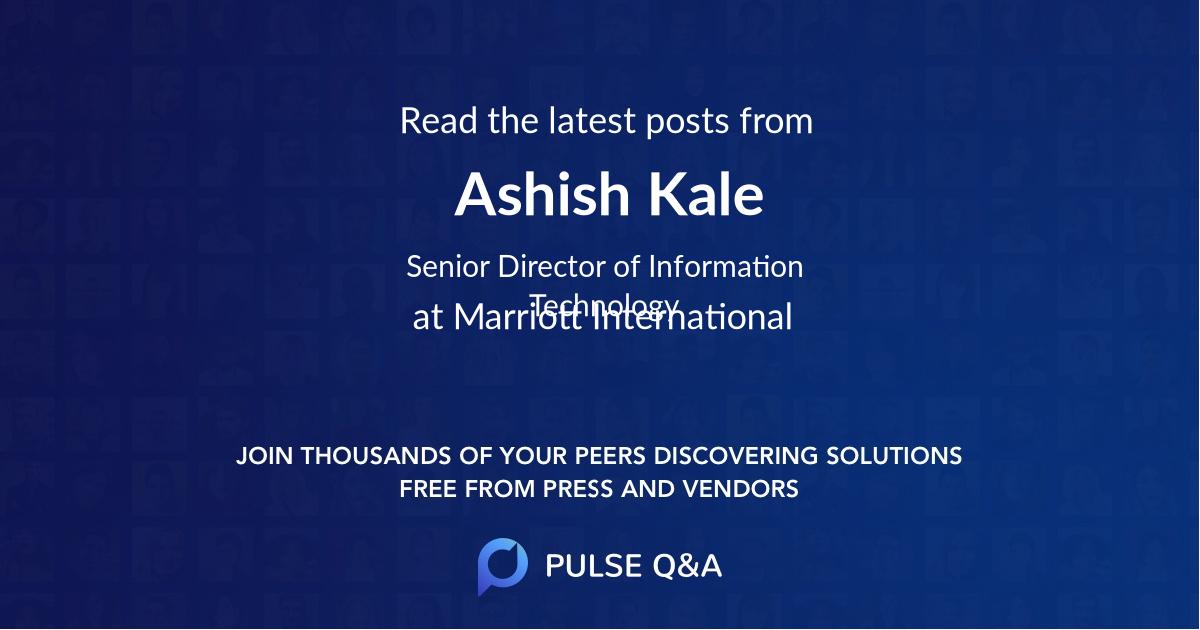 Ashish Kale