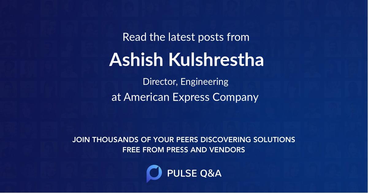 Ashish Kulshrestha