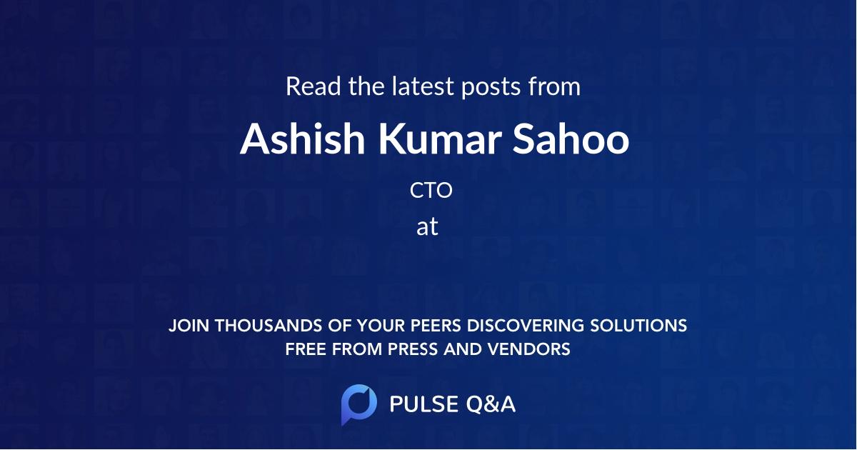 Ashish Kumar Sahoo
