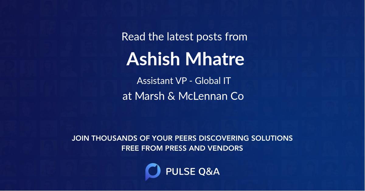 Ashish Mhatre