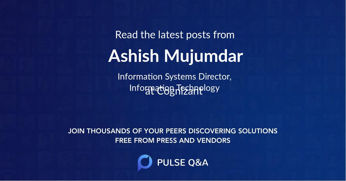 Ashish Mujumdar
