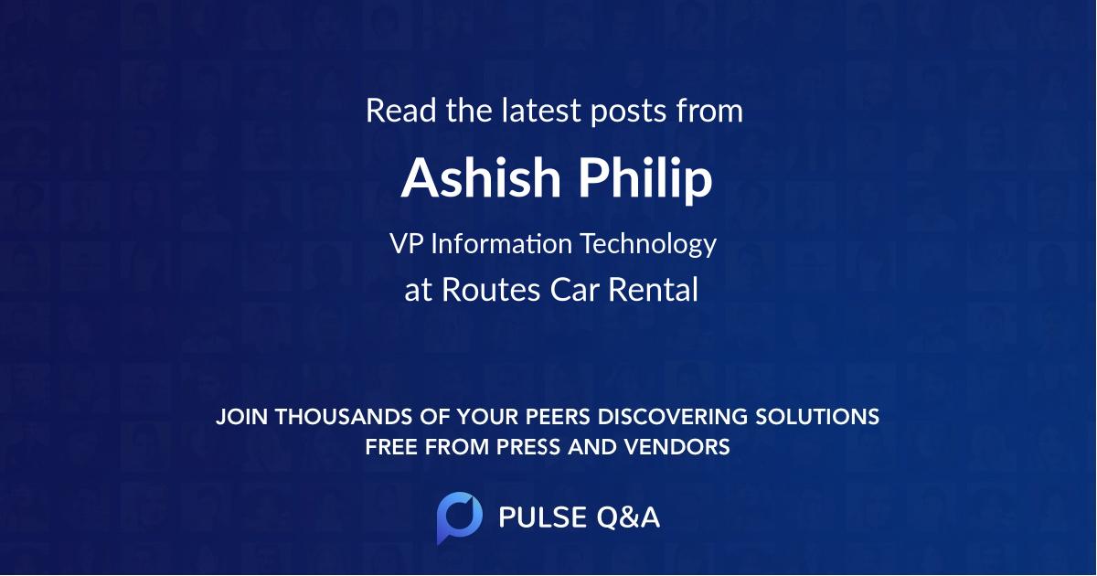 Ashish Philip