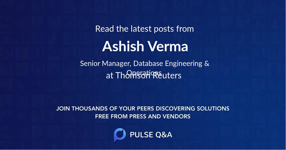 Ashish Verma