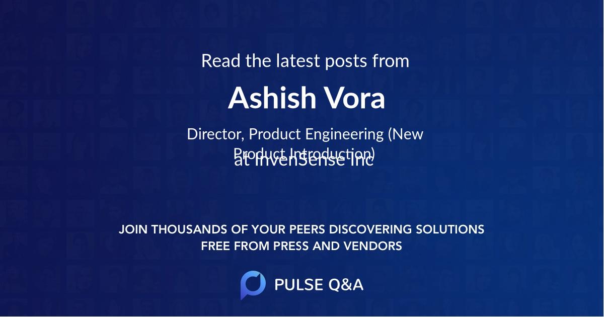 Ashish Vora