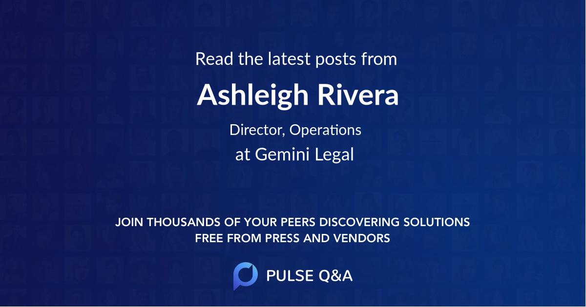 Ashleigh Rivera