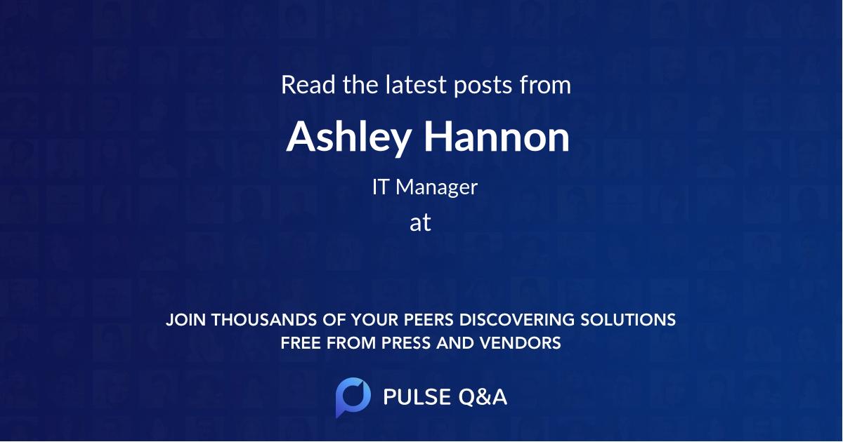 Ashley Hannon