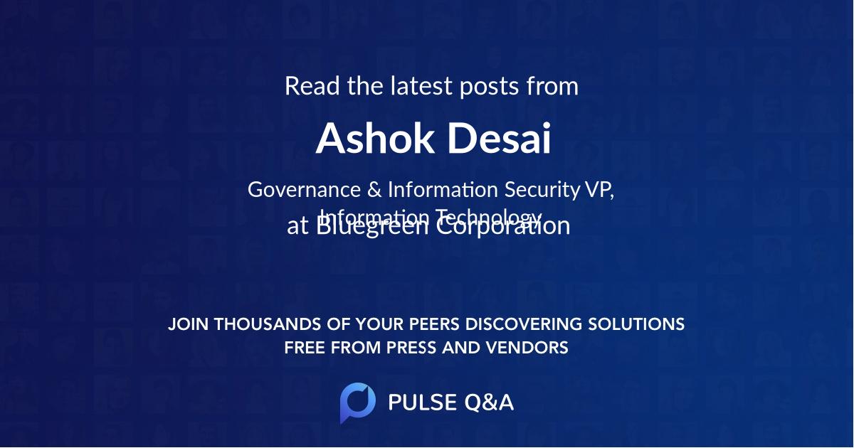 Ashok Desai