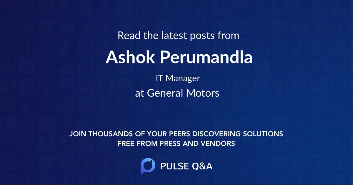 Ashok Perumandla