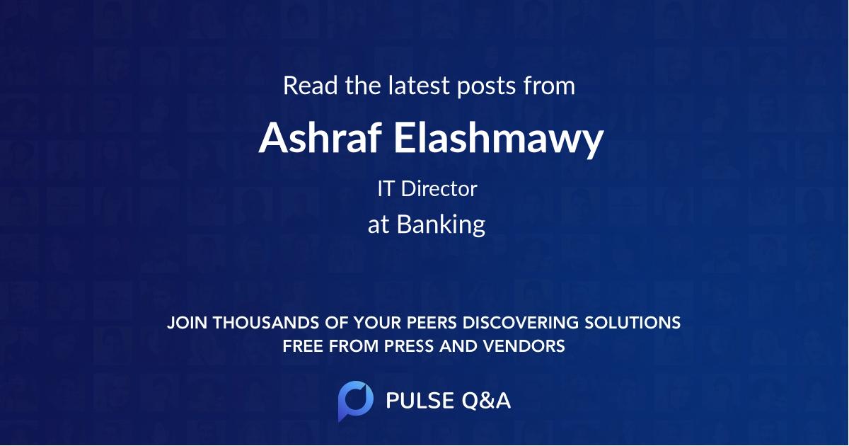 Ashraf Elashmawy