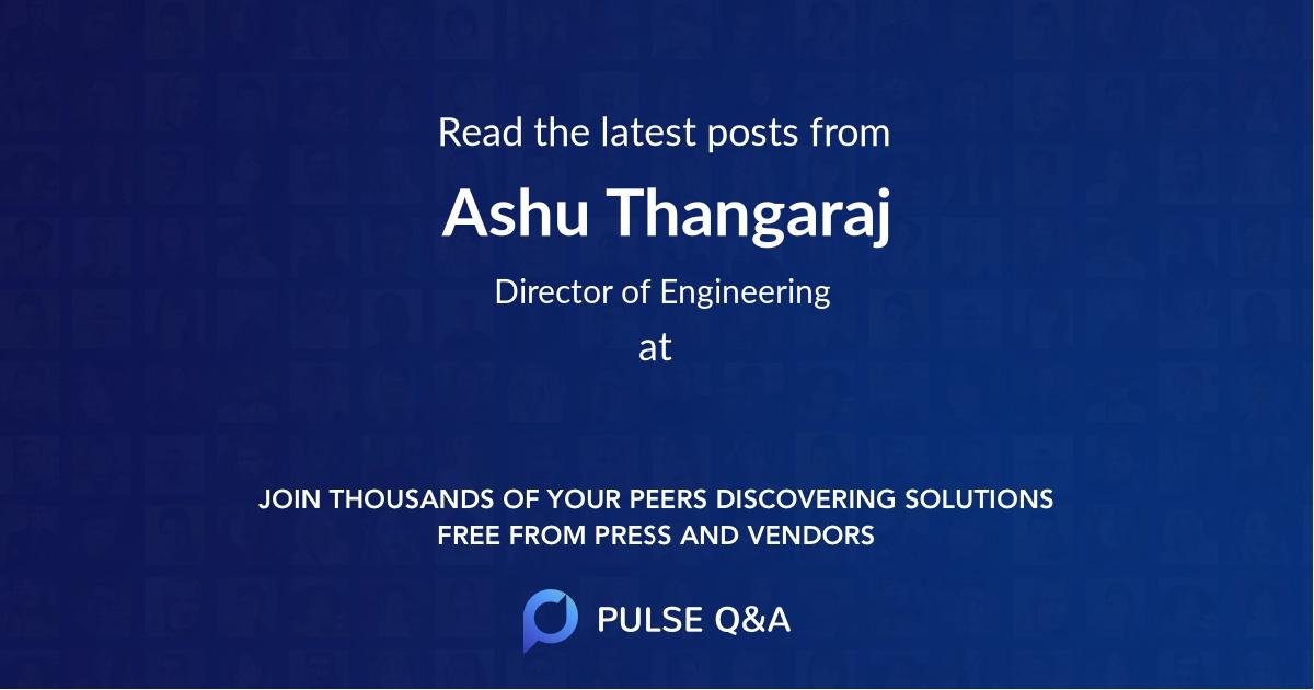Ashu Thangaraj