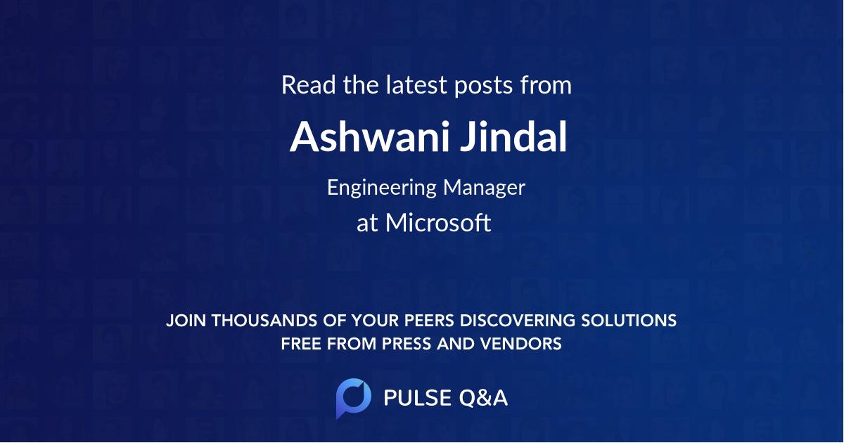 Ashwani Jindal