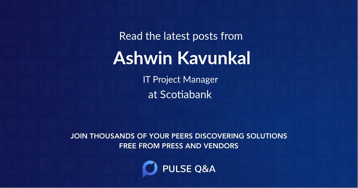 Ashwin Kavunkal