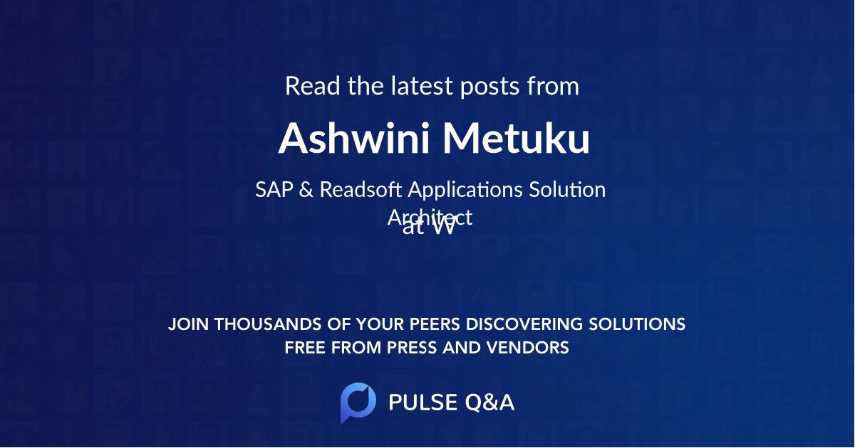 Ashwini Metuku