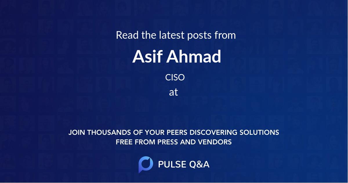 Asif Ahmad