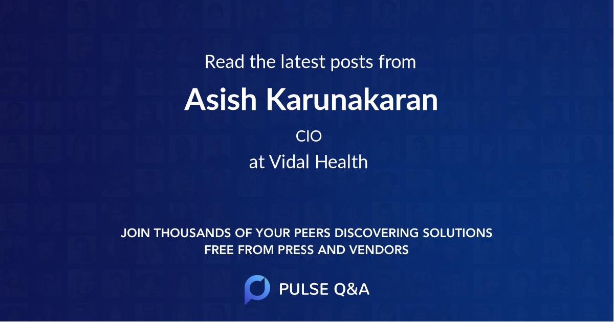 Asish Karunakaran