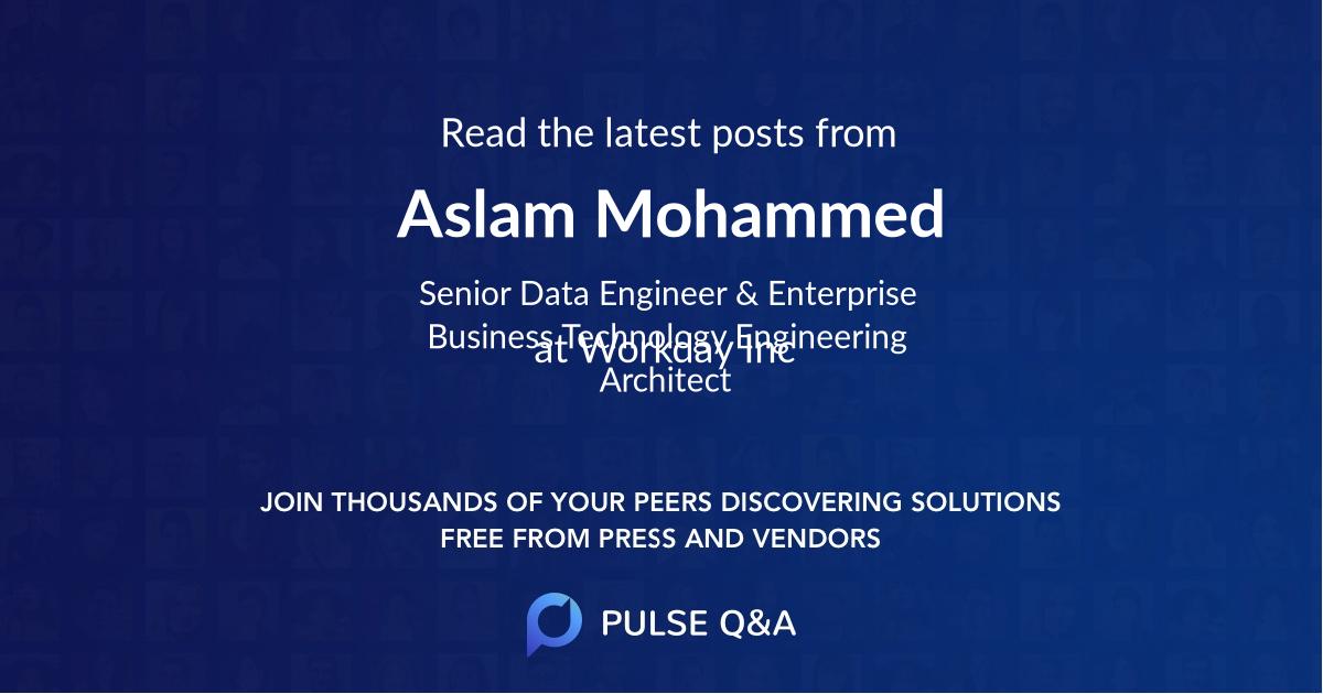 Aslam Mohammed