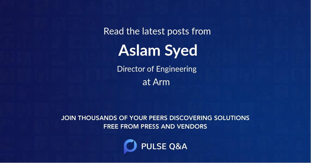 Aslam Syed
