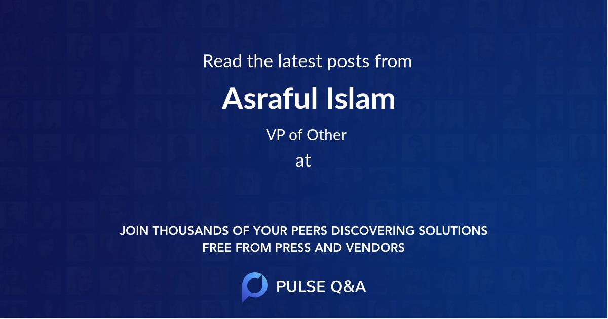 Asraful Islam