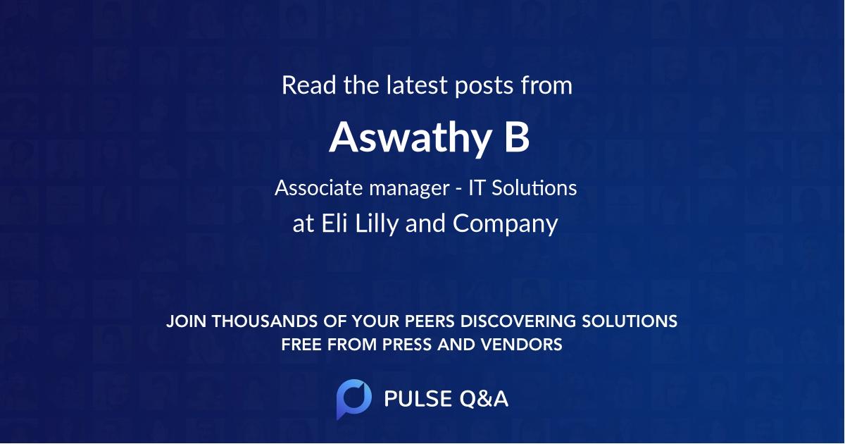 Aswathy B