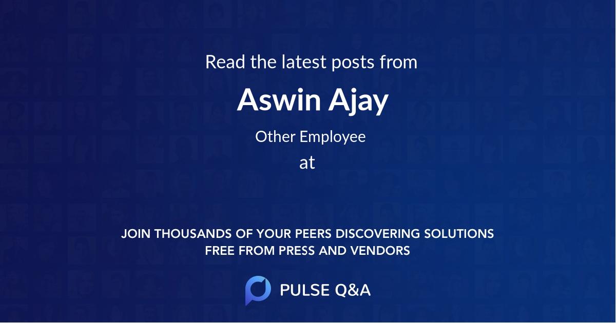 Aswin Ajay
