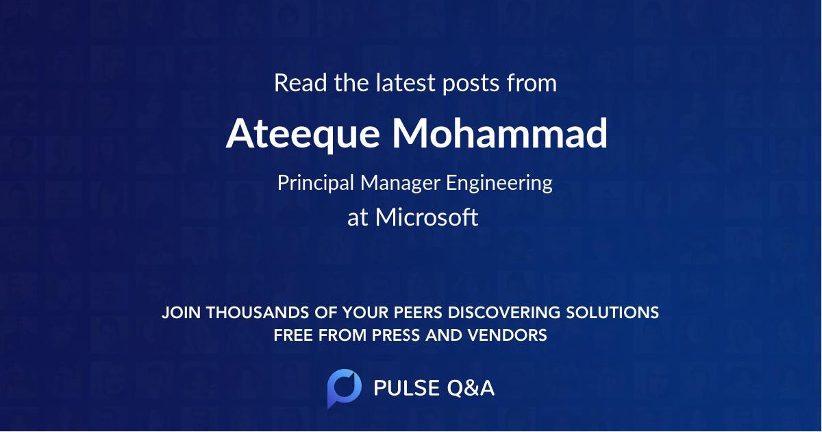Ateeque Mohammad