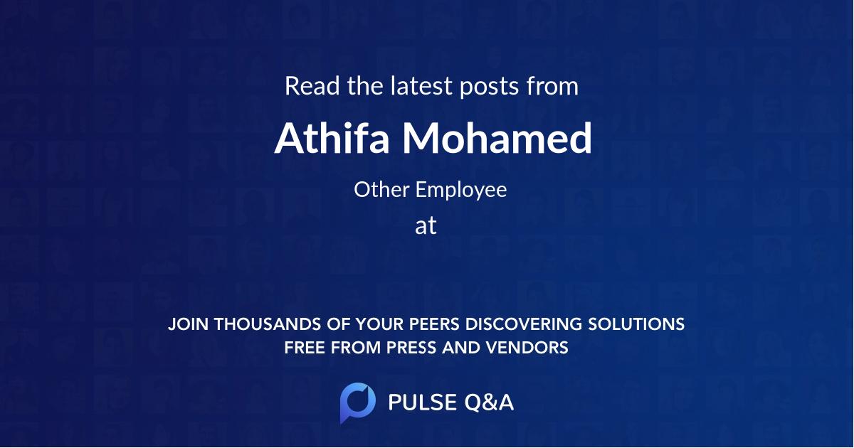 Athifa Mohamed