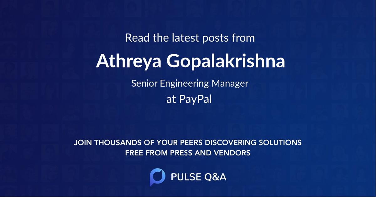 Athreya Gopalakrishna