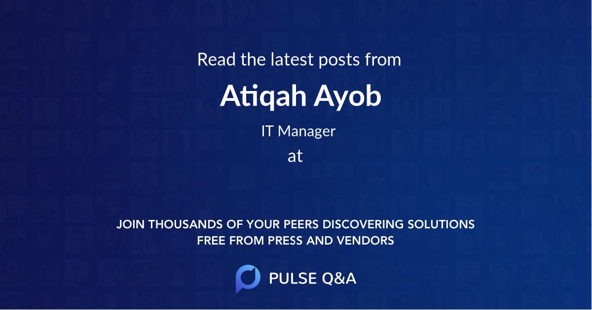 Atiqah Ayob