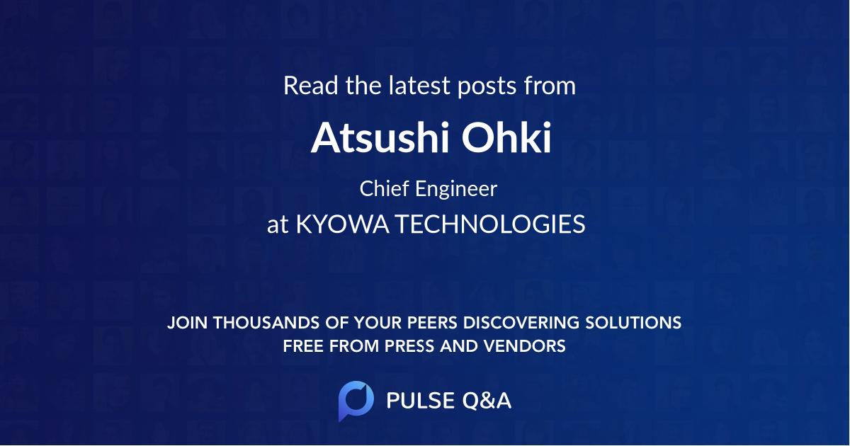 Atsushi Ohki